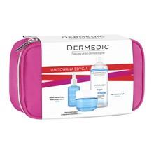 Zestaw Promocyjny Dermedic Hydrain 3, serum, 30 ml + krem, 50 g + płyn micelarny, 500 ml + kosmetyczka