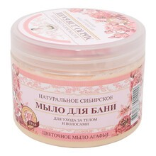 Receptury Babuszki Agafii, naturalne mydło kwiatowe do włosów i ciała, 37 ziół, 500 ml