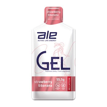 Zestaw ALE Active Life Energy, Gel Strawberry Banana, 10 szt.