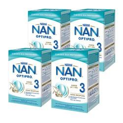 Zestaw 4x Nestle Nan Optipro 3, mleko modyfikowane Junior dla dzieci po 1 roku, 800 g