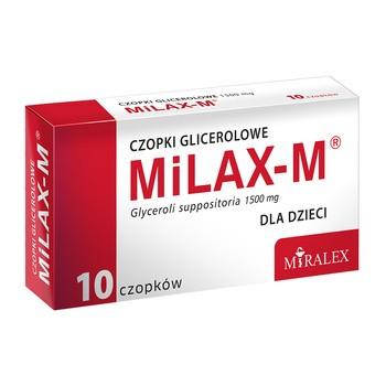 Milax-M, czopki glicerolowe dla dzieci, 1,5 g, 10 szt.