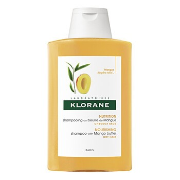 Klorane, szampon do włosów na bazie wyciągu z mango, włosy suche, 200 ml