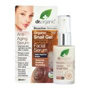 Dr. Organic Snail Gel, serum do twarzy ze śluzem ślimaka, 30 ml