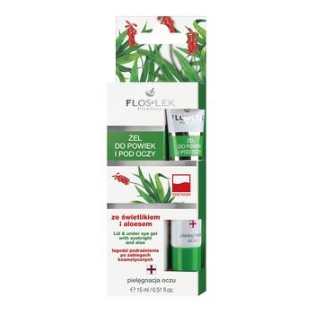 FlosLek Pharma, żel do powiek i pod oczy, ze świetlikiem i aloesem, 15 ml