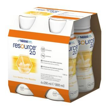 Resource 2.0, płyn o smaku waniliowym, 4 x 200 ml
