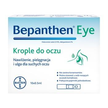 Bepanthen eye, krople do oczu, 0,5 ml, 10 szt.