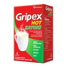 Gripex Hot Zatoki, proszek do sporządzania roztworu doustnego, 8 saszetek