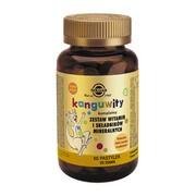Kanguwity, zestaw witamin i składników mineralnych dla dzieci, pastylki do ssania o smaku owoców tropikalnych, 60 szt.