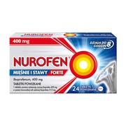Nurofen Mięśnie i Stawy Forte, 400 mg, tabletki powlekane, 24 szt.
