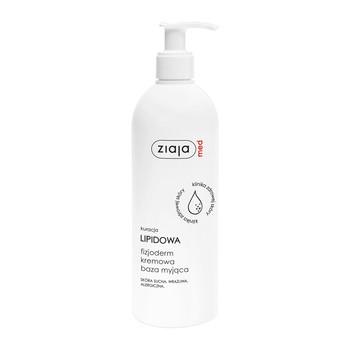 Ziaja Med Kuracja Lipidowa Fizjoderm, kremowa baza myjąca, skóra bardzo wrażliwa, alergiczna, 400 ml