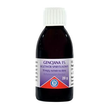 Gencjana 1% roztwór spirytusowy (Pyoctanina), 20 g (Hasco)