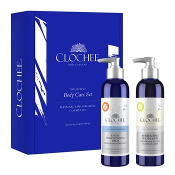 Zestaw Promocyjny Clochee Body Care Set, orzeźwiający olejek do mycia ciała, 250 ml + lekki balsam nawilżający, 250 ml