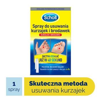 Scholl, spray, do usuwania kurzajek i brodawek, 80 ml