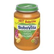 BoboVita, obiadek warzywa z delikatną wołowiną, 6m+, 190 g