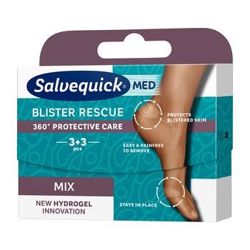 Salvequick Med Blister Resuce Mix 6, plastry na pęcherze, 6 szt.