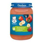 Gerber Deserek, mus bananowo-truskawkowy z jabłkami, po 6 miesiącu, 190 g