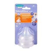Lansinoh NaturalWave, smoczek na butelkę, przepływ średni, 2 szt.