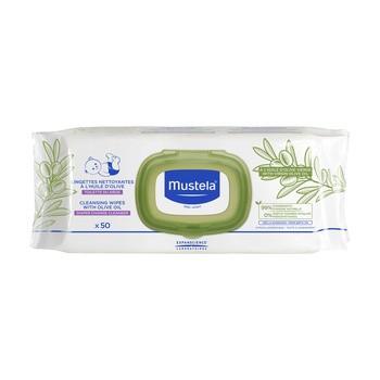 Mustela Bebe-Enfant, chusteczki oczyszczające z oliwą z oliwek, 50 szt