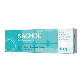Sachol żel stomatologiczny, żel do stosowania w jamie ustnej i na dziąsła, 10 g