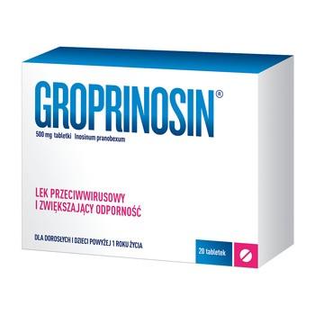 Groprinosin, 500 mg, tabletki, 20 szt.