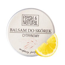Fresh&Natural,  cytrynowy balsam do skórek i paznokci, 15 ml