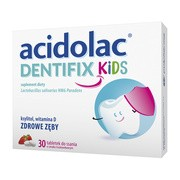 Acidolac Dentifix Kids, tabletki do ssania, smak truskawkowy, 30 szt.