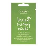 Ziaja Liście Zielonej Oliwki, oliwkowa maska regenerująca z kwasem hialuronowym, 7 ml