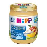 HiPP BIO, jabłka z brzoskwiniami, mango i jogurtem, po 6. miesiącu, 160 g