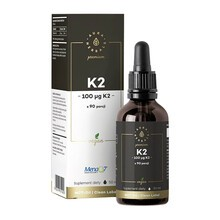 Witamina K2 MenaQ7 Premium Vegan, krople, 50 ml
