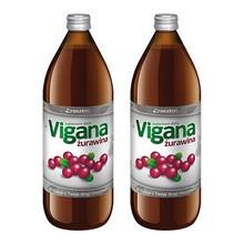 Vigana Żurawina, sok, 1000 ml x 2 opakowania