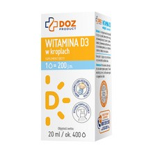 DOZ PRODUCT Witamina D3 w kroplach, krople, 20 ml