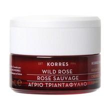Korres Wild Rose, nawilżający krem na dzień z wyciągiem z dzikiej róży dla cery suchej, 40 ml