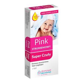 Domowe Laboratorium, Pink Strumieniowy Super Czuły test ciążowy, 1 szt.