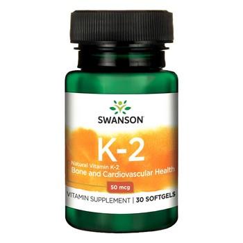 Swanson Witamina K2, 50 µg, kapsułki, 30 szt.