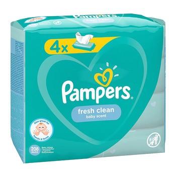 Chusteczki Pampers Fresh Clean, 4 x 52 szt.