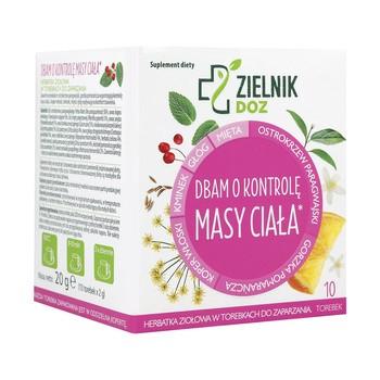 ZIELNIK DOZ Dbam o kontrolę masy ciała, herbatka ziołowa, 2 g, 10 szt.