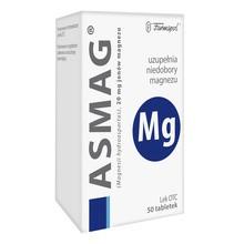 Asmag, 20 mg jonów magnezu, tabletki, 50 szt.