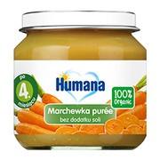 Humana 100% Organic, marchewka puree, 4 m+, 80 g
