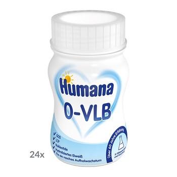 Humana 0-VLB, mleko modyfikowane w płynie, 24 x 90 ml