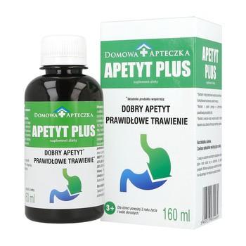 Apetyt Plus, dobry apetyt, prawidłowe trawienie,  płyn 160 ml