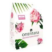 Zestaw Promocyjny Orientana nawilżający, masło do ciała, róża japońska i liczi, 100 g + tonik do twarzy, róża japońska i pandan, 100 ml + maska z naturalnego jedwabiu pod oczy, kaskaryla, 2 szt. GRATIS