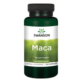 Swanson Maca, 500 mg, kapsułki, 100 szt.