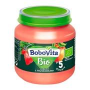 BoboVita Bio, jabłka z truskawkami, 125 g