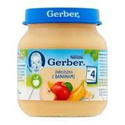 Gerber, jabłuszka z bananami, 4 m+, 125 g