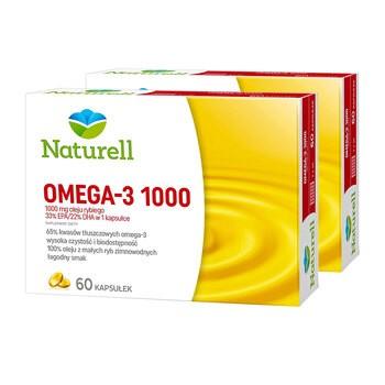 Zestaw 2x Naturell Omega-3 1000, kapsułki, 60 szt.