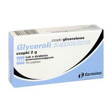 Czopki glicerolowe, 2 g, 10 szt. (Farmina)
