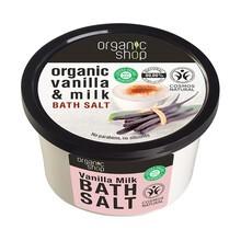 Organic Shop, organiczna sól do kąpieli, wanilia i mleko, 250 ml