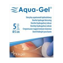 Aqua-Gel, opatrunek hydrożelowy, średnica 5 cm, 5 szt.