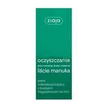 Ziaja Liście Manuka-Oczyszczanie, krem mikrozłuszczający z kwasem migdałowym, na noc, 50 ml