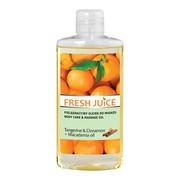 Fresh Juice, pielęgnacyjny olejek do masażu, Tangerine & Cinnamon + Macadamia oil, 150 ml